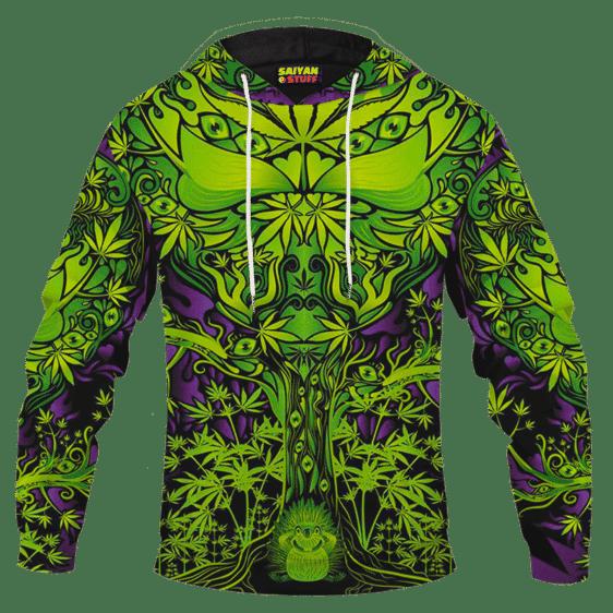 All Over Marijuana Trippy Dope Art Design 420 Weed Adult Hoodie