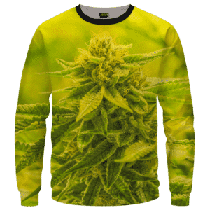 Amazing Marijuana Weed Top Bud Cola All Over Crewneck Sweatshirt