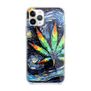 Artistic Vincent Van Dope Marijuana Leaf Design iPhone 12 Case