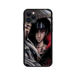 Awesome Itachi Sharingan Akatsuki Hat Artwork iPhone 12 Case
