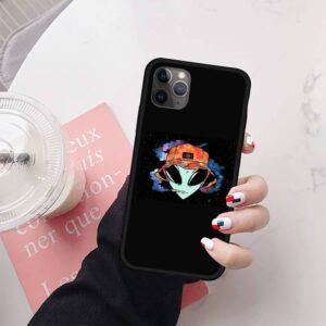Beanie Alien Smoking Weed iPhone 12 (Mini, Pro & Pro Max) Case