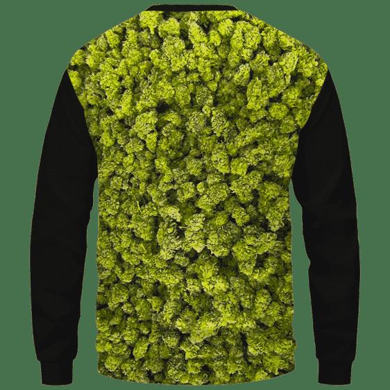 Billy Ray Cyrus Funny Nug Weed Cute Crewneck Sweater - Back Mockup