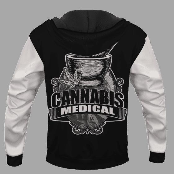 Black Medical Cannabis Apothecary Design Marijuana Hoodie
