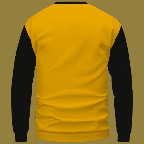 Bob Marley Artistic Painting Orange Black Crewneck Sweater - Back Mockup