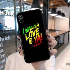 Bob Marley I Wanna Love Ya Reggae Colored iPhone 12 Cover