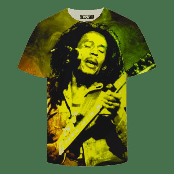 Bob Marley Singing Reggae Stoner Legend Awesome T-shirt