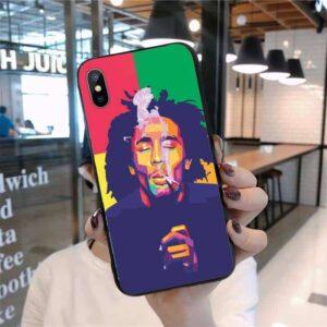 Bob Marley Smoking Weed iPhone 12 (Mini, Pro & Pro Max) Case