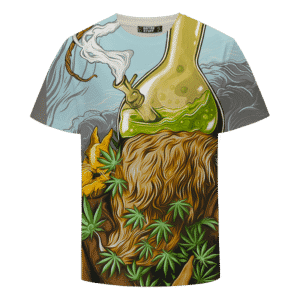 Bong Head Weed Marijuana Trippy Cool Vector Art T-shirt
