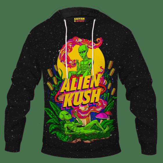 Calming Potent Alien Kush Indica Dominant Hybrid Marijuana Hoodie