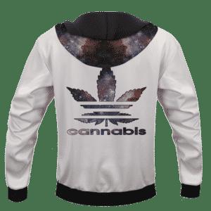 Cannabis Adidas Parody Logo Marijuana Themed hoodie