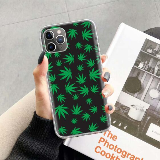 Cannabis Greens Pattern iPhone 12 (Mini, Pro & Pro Max) Cover