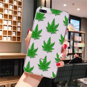 Cannabis Leaves All Over iPhone 12 (Mini, Pro & Pro Max) Case