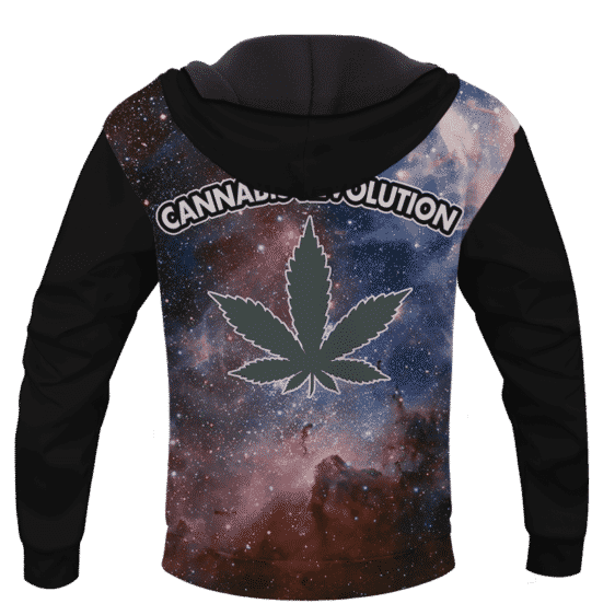 Cannabis Revolution Galaxy Marijuana Cool Pullover Hoodie