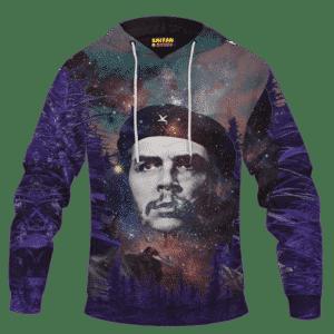 Che Guevara Cannabis Space Galaxy Farm Pullover Hoodie