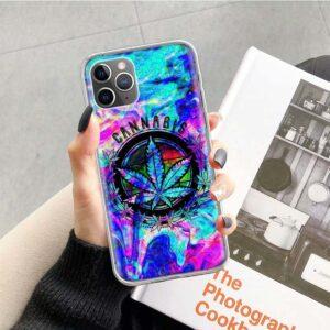 Colored Cannabis Tie Dye iPhone 12 (Mini, Pro & Pro Max) Cover