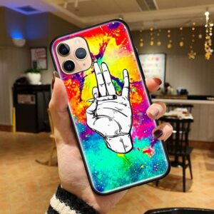 Colorful Marijuana Take A Hit iPhone (Mini, Pro & Pro Max) Case