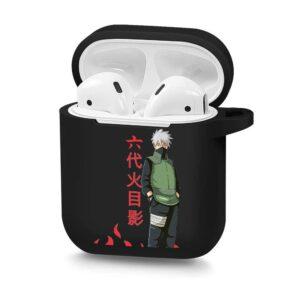 Cool Sensei Kakashi Hatake Sharingan Black Airpods Case
