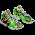 DBZ Broly Legendary Super Saiyan Green All Over Basketball Sneakers - Mockup 1