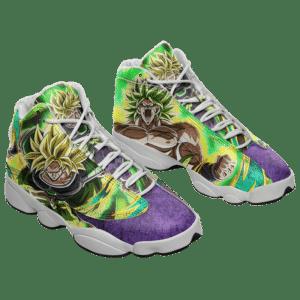DBZ Broly Super Saiyan Collectors Item Basketball Shoes - Mockup 1