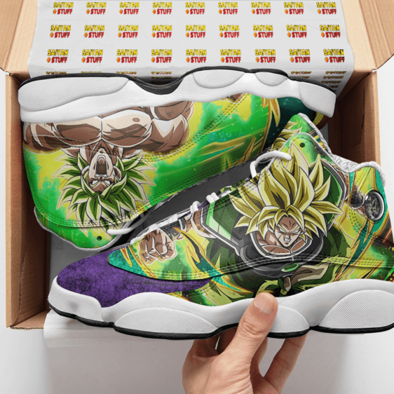 DBZ Broly Super Saiyan Collectors Item Basketball Shoes - Mockup 2