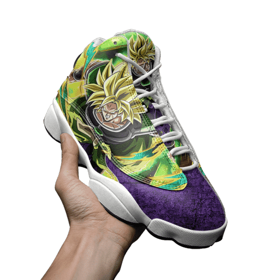 DBZ Broly Super Saiyan Collectors Item Basketball Shoes - Mockup 3