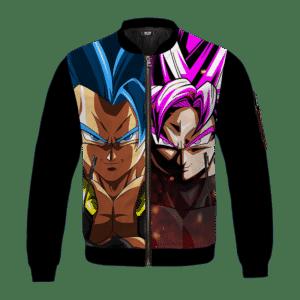 DBZ Gogeta Blue Goku Black Super Saiyan Rose Excellent Bomber Jacket