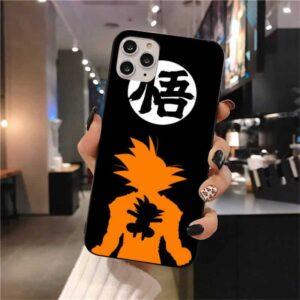 DBZ Goku Silhouette Goku Name iPhone 12 (Mini, Pro & Pro Max) Case