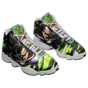DBZ Legendary Saiyan Broly Charged Up Awesome Cool Basketball Shoes - Mockup 1