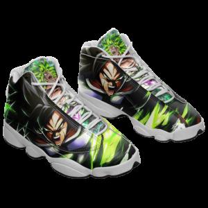 DBZ Legendary Saiyan Broly Charged Up Awesome Cool Basketball Shoes - Mockup 1