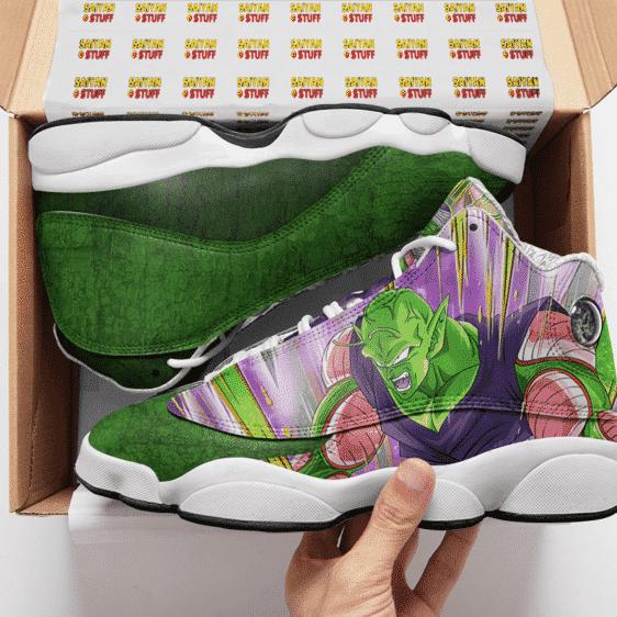 DBZ Piccolo Awesome Dokkan Art Green Basketball Sneakers - Mockup 2