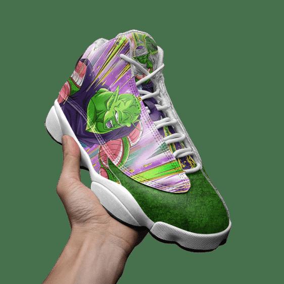 DBZ Piccolo Awesome Dokkan Art Green Basketball Sneakers - Mockup 3