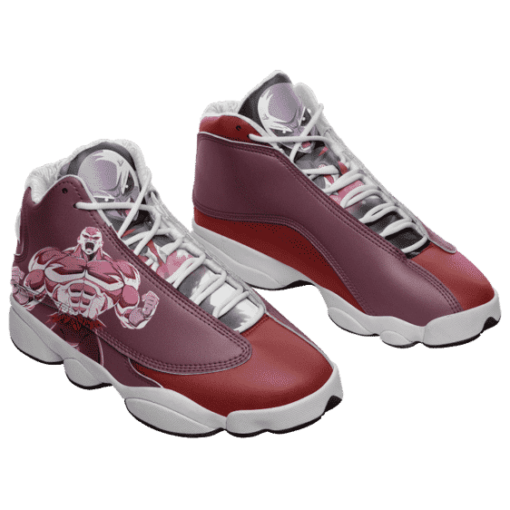 DBZ Powerful Jiren Red Awesome Basketball Shoes - Mockup 1