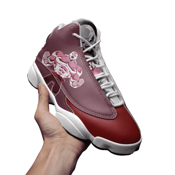 DBZ Powerful Jiren Red Awesome Basketball Shoes - Mockup 3