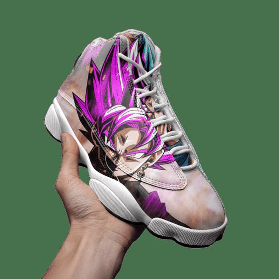 DBZ Super Saiyan Rose Blue Goku Cool Basketball Shoes - Mockup 3