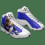 DBZ Vegeta The Saiyan Prince Dope Basketball Sneakers - Mockup 1