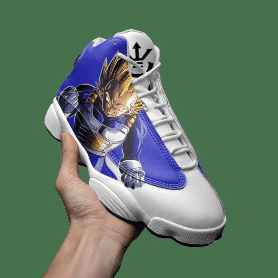 DBZ Vegeta The Saiyan Prince Dope Basketball Sneakers - Mockup 3