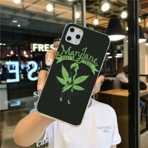 Dark Green Mary Jane Puff And Pass Woman iPhone 12 Cover