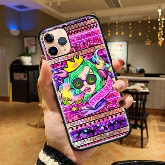 Dope 420 Stoner Queen Aztec Prints iPhone 12 Cover