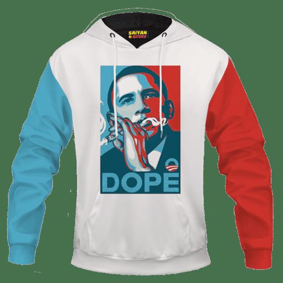Dope Barack Obama Yes We Cannabis 420 Marijuana Pullover Hoodie
