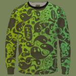 Dope Weed Cartoon Doodle Art 420 Marijuna Crewneck Sweatshirt