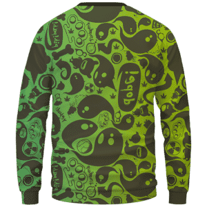 Dope Weed Cartoon Doodle Art 420 Marijuna Crewneck Sweatshirt Back