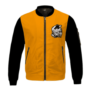 Dragon Ball Classic Son Goku Black Orange Bomber Jacket
