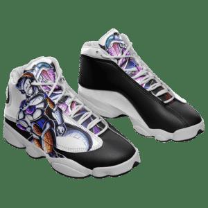 Dragon Ball Frieza King Cold Black White Basketball Shoes - Mockup 1
