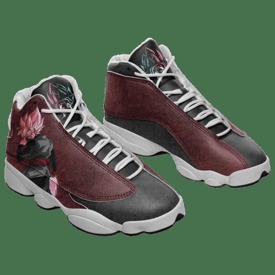 Dragon Ball Goku Black Saiyan Rose Basketball Shoes - Mockup 1