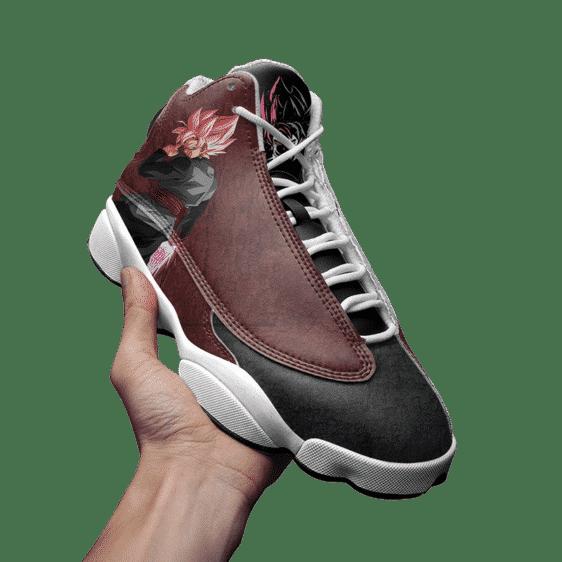 Dragon Ball Goku Black Saiyan Rose Basketball Shoes - Mockup 3