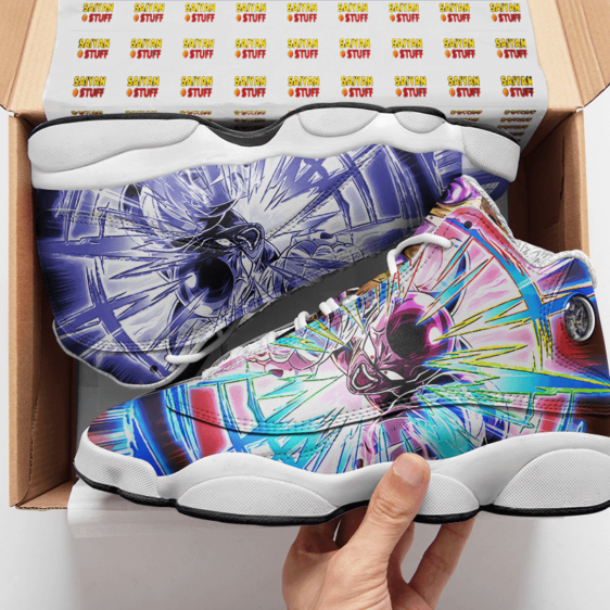 Dragon Ball Golden Frieza Dokkan Art Cool Basketball Sneakers - Mockup 2