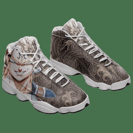Dragon Ball Majin Vegeta Japanese Pattern Dope Basketball Sneakers - Mockup 1