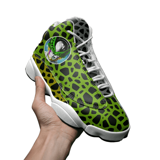 Dragon Ball Perfect Cell Pattern Awesome Basketball Shoes - Mockup 3