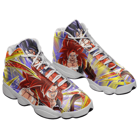 Dragon Ball SSJ4 Vegito Xeno Awesome Basketball Shoes - Mockup 1