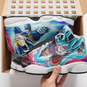 Dragon Ball Saiyan Blue Goku Vegeta Gogeta Basketball Sneakers - Mockup 2